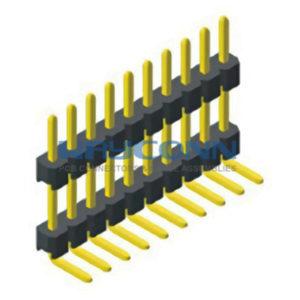 Right Angle Single Row 1.27mm Elevated Pin Header