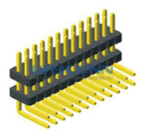 2 Row Right Angle 1.27mm Elevated Pin Header