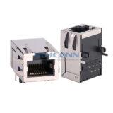 TAB-UP 10/100/1000Base-T, SHLD W/ EMI, L: 25.4mm