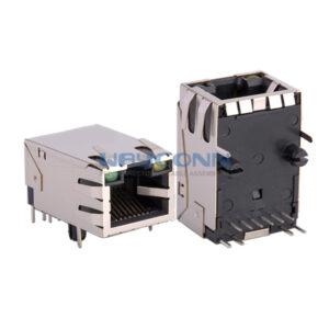 TAB-UP 10/100Base-T, SHLD W/ EMI, 6PIN, L: 25.4mm
