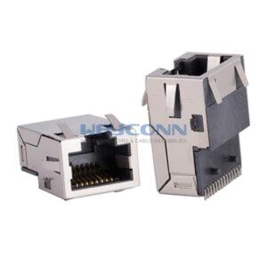 1000Base-T, Sink & SMT, Tab-Up, Shielded w/ EMI
