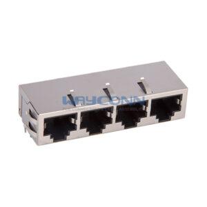 Tab-Down 1X4, 1000Base-T, Shielded w/ EMI