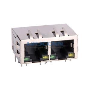 Tab-Down 1X2, 10/100/1000Base-T, SHLD w/ EMI & LED
