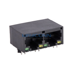 Tab-Down 1X2, 10/100/1000Base-T, Unshielded w/ LED