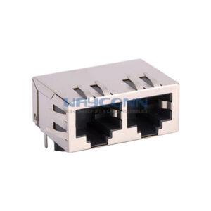 Tab-Down 1X2, 100Base-T, Shielded w/ EMI