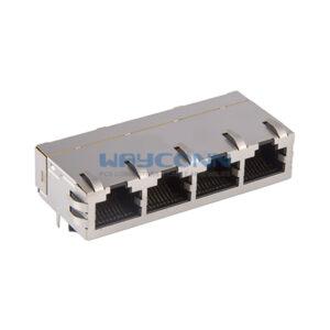 Tab-Up 1X4, 100Base-T, Shielded w/ EMI
