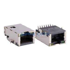Sink Type RJ45 with Magnetics, 100Base-T