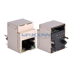 Top Entry RJ45 MagJack with Gap on the Edge