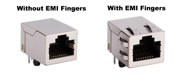 RJ45 EMI Fingers options
