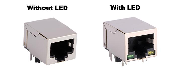 LED Options of RJ45 Modular Jack