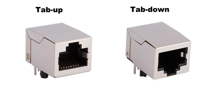 Tab-up and Tab-down RJ45